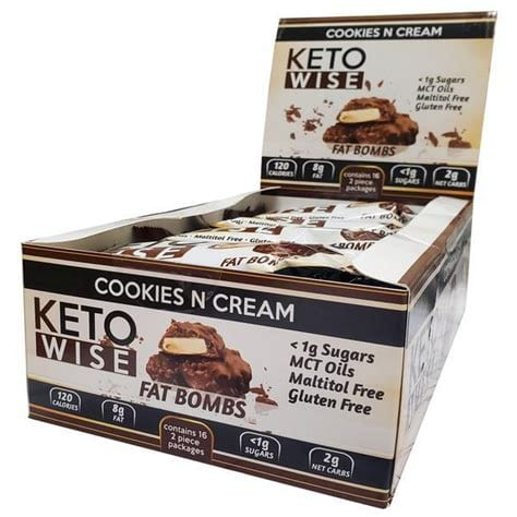 Cookies N Cream Fatbombs - Keto Wise - LCHF