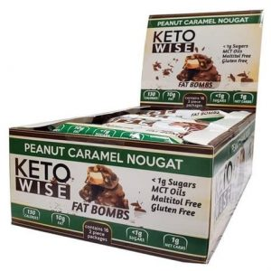 Peanut Caramel Nougat Fat Bomb - Keto Wise - Low Carb